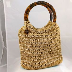 Liz Claiborne, woven cro het handbag, new no tags